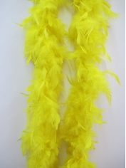 Yellow Feather Boa - Costume Accessories