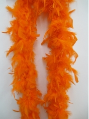 Orange Feather Boa - Costume Accessories