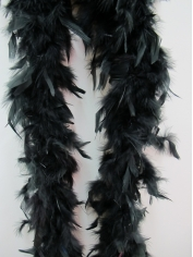 Black Feather Boa - Costume Accessories
