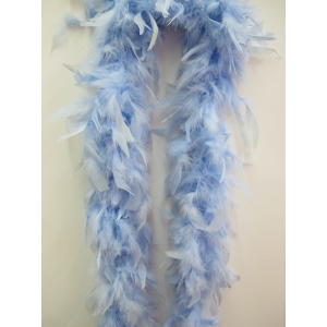 Light Blue Feather Boa - Costume Accessories