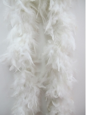White Feather Boa - Costume Accessories