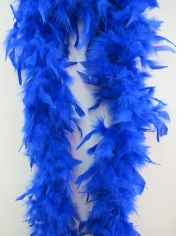 Blue Feather Boa - Costume Accessories