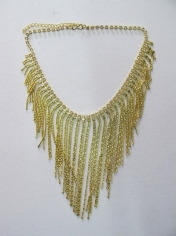 20s Flapper Gold Necklace - Costume Accessories