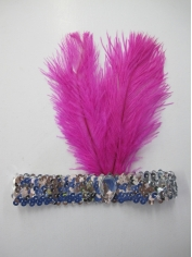 20's Pink Headpiece - Costume Accessories