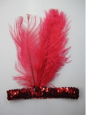 20s Red Sequin Headpiece