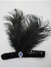 20's Headpiece Black - Costume Accessories