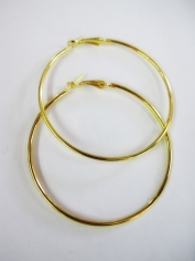 Large Gold Hoop Earrings - Jewelry