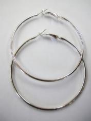 Large Silver Hoop Earrings - Jewelry