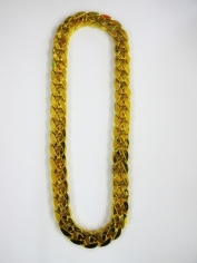 Chunky Gold Chain Bling Necklace