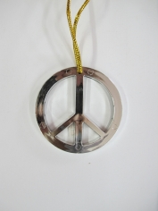 Peace Sign Necklace - Silver