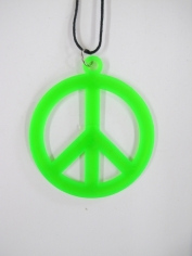Peace Sign Necklace - Green
