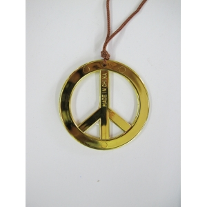 Peace Sign Necklace - Gold