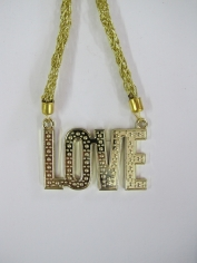 Hippie Love Gold Necklace - Bling Necklaces