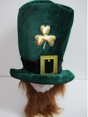 Jumbo Leprechaun Hat with Beards