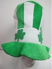 St Patricks Day Hat Green White Striped