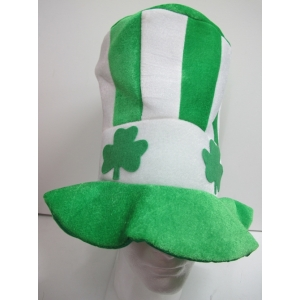 St Patricks Day Hat Green White Striped
