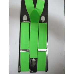 Bright Green Suspenders - St Patricks Day Costumes