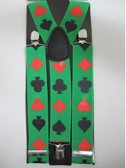 Green Poker Suspenders - St Patricks Day Costumes