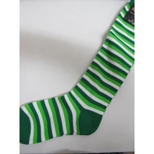 Light Green White Striped Knee High Socks