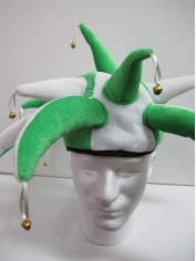 Jester Hat Green/White