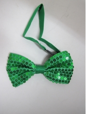 Green Sequin Bow Ties - St Patricks Day Costumes
