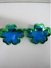 Jumbo Green Shamrock Novelty Glasses