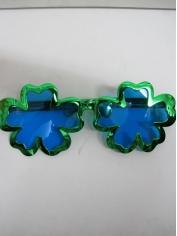 Jumbo Green Shamrock Novelty Glasses