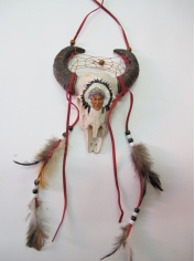 Small Bull Head Decoration