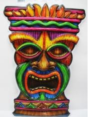 Hawaiian Tiki Face Cut Out - Party Decorations
