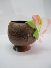 Coconut Cup With Flower - Party Accessories