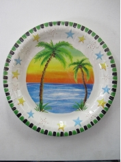 Tropical Paper Plates - Hawaiian Party Accessories