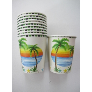 Tropical Paper Cups - Hawaiian Party Accessories