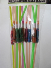 Luau Umbrella Straws - Hawaiian Party Accessories