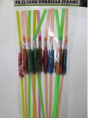 Luau Umbrella Straws - Hawaiian Party Accessories