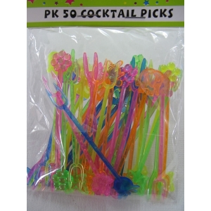 50 pk Cocktail Picks - Hawaiian Party Accessories