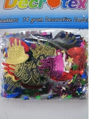 Happy Birthday Decorative Confetti - Hawaiian Party Accessories