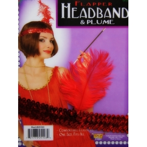 20's Headpiece Red - Costume Accessories