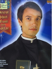 Priest Shirt Front and Collar