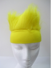 Yellow Sweatband with Yellow Hair