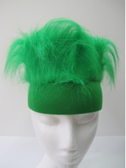 Green Sweatband with Hair