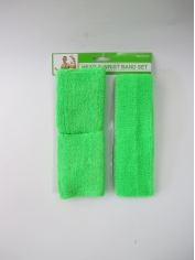 Green Sweatband Set