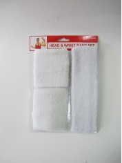 White Sport Sweatband Set