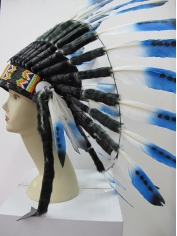 Blue Deluxe Native American Headdress