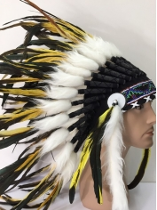 Deluxe Yellow Black Native American Headdress