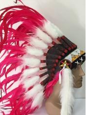 Deluxe Hot Pink Native American Headdress