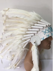 Deluxe White Native American Headdress
