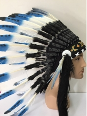 Deluxe Blue Native American Headdress