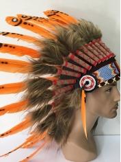 Deluxe Orange Native American Headdress