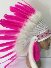Large Pink Native American Headdress