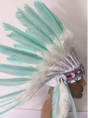 Large Light Blue Native American Headdress